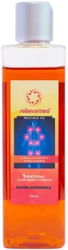 Relievamed water dispersible grapeseed massage oil
